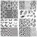 Slika izdelka Odtisna plošča, cvetlice in baročni vzorci  2 kosa