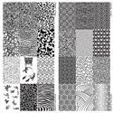 Slika izdelka Odtisna plošča, živali in abstraktni vzorci 2 kosa