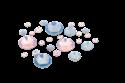 Slika izdelka Kamenčki v kolesu pink&blue 270 kom