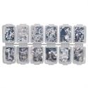 Slika izdelka Zabavna škatla srebrnih bleščic 12 kom