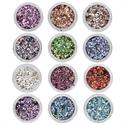 Slika izdelka Metalne luske 12 barv